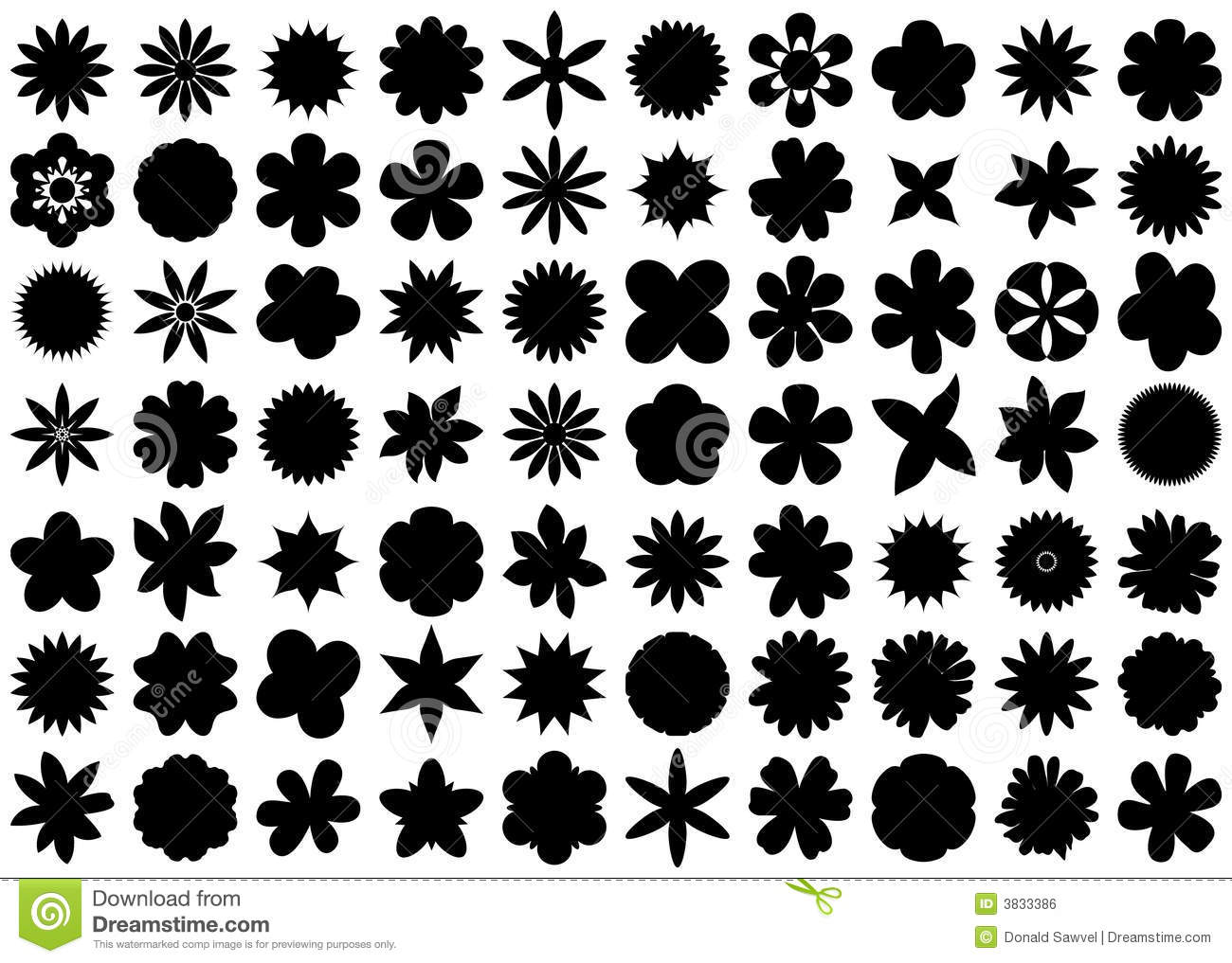 Flower Silhouettes Royalty Free Stock Image Image