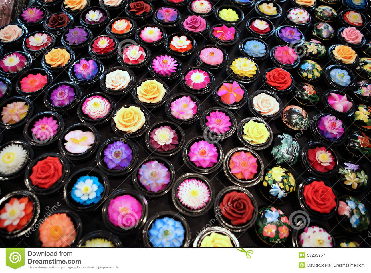 Flower soap stock image of asia culture carving