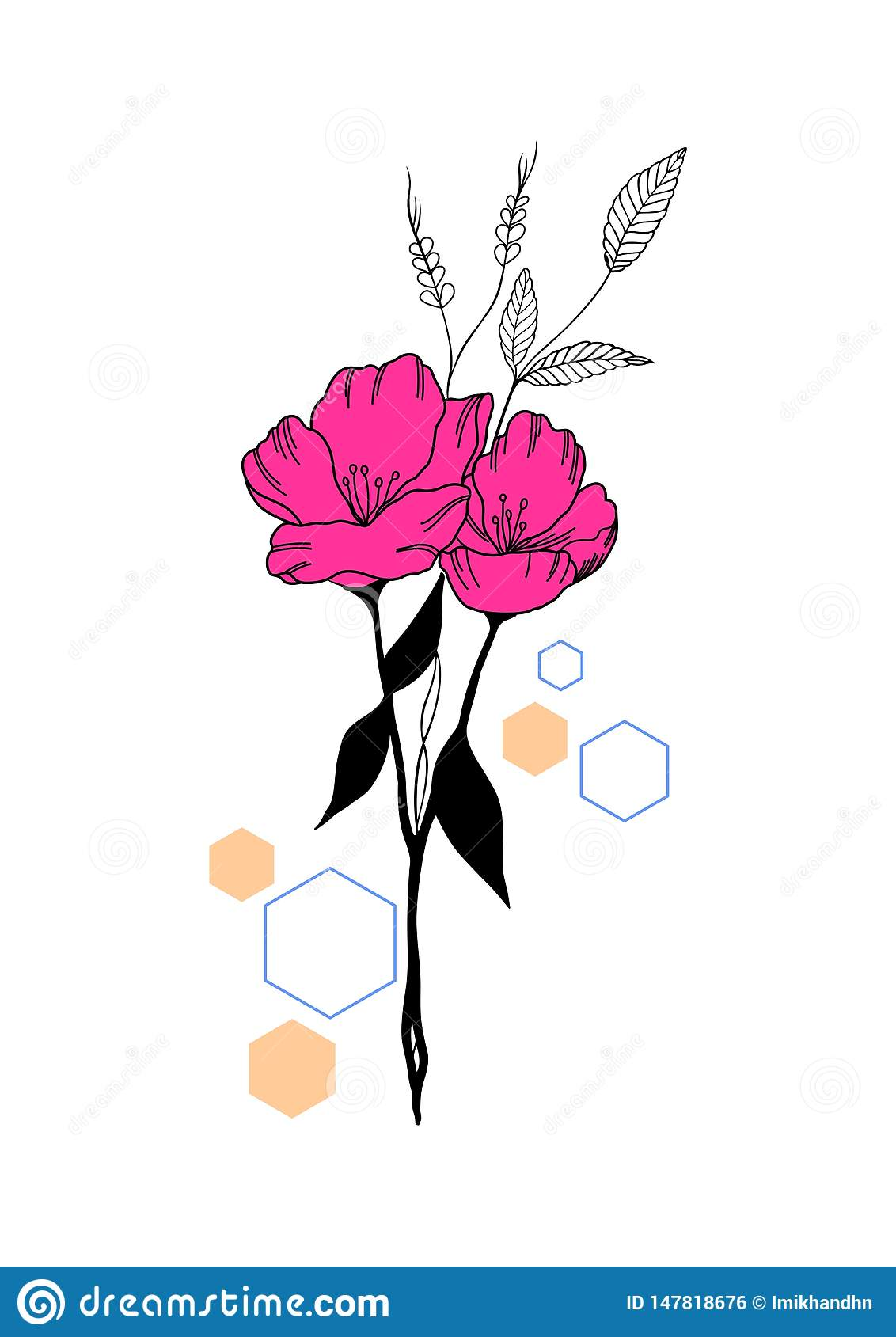 Flower with some hexagon shape