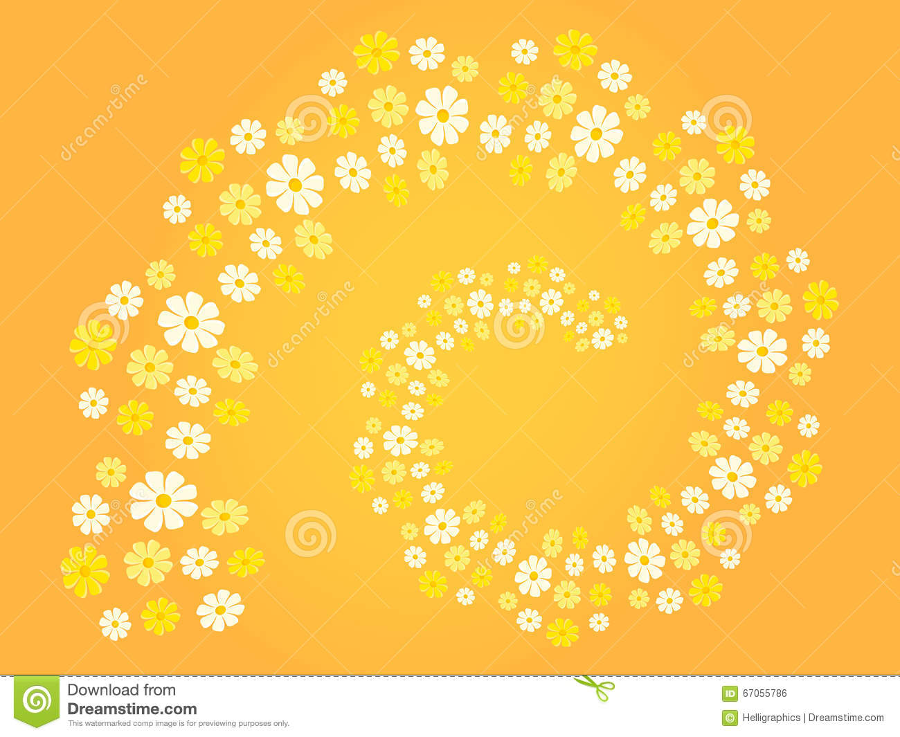 Different Shades Of Yellow flower spiral (flower swirl) in different shades of white, yellow