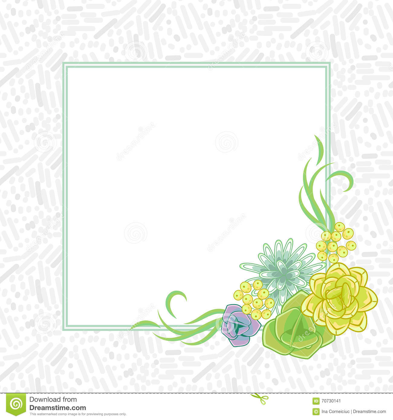 flower square card template vector stock vector illustration of