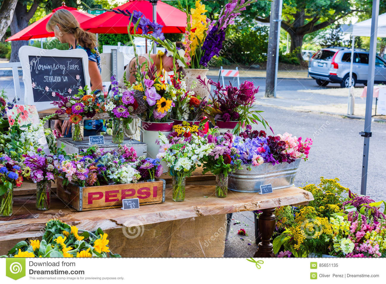 Flower Stand Editorial Image Image 85651135
