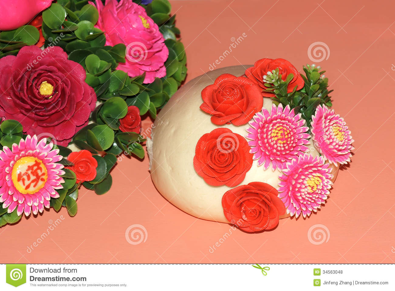 Flower steamed bun stock photo image of steamed food for Art of food decoration
