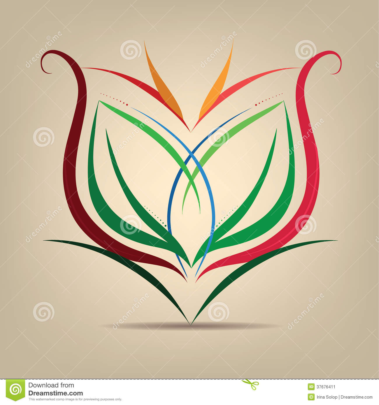 Flower Symbol In The Abstract Stock Image Image