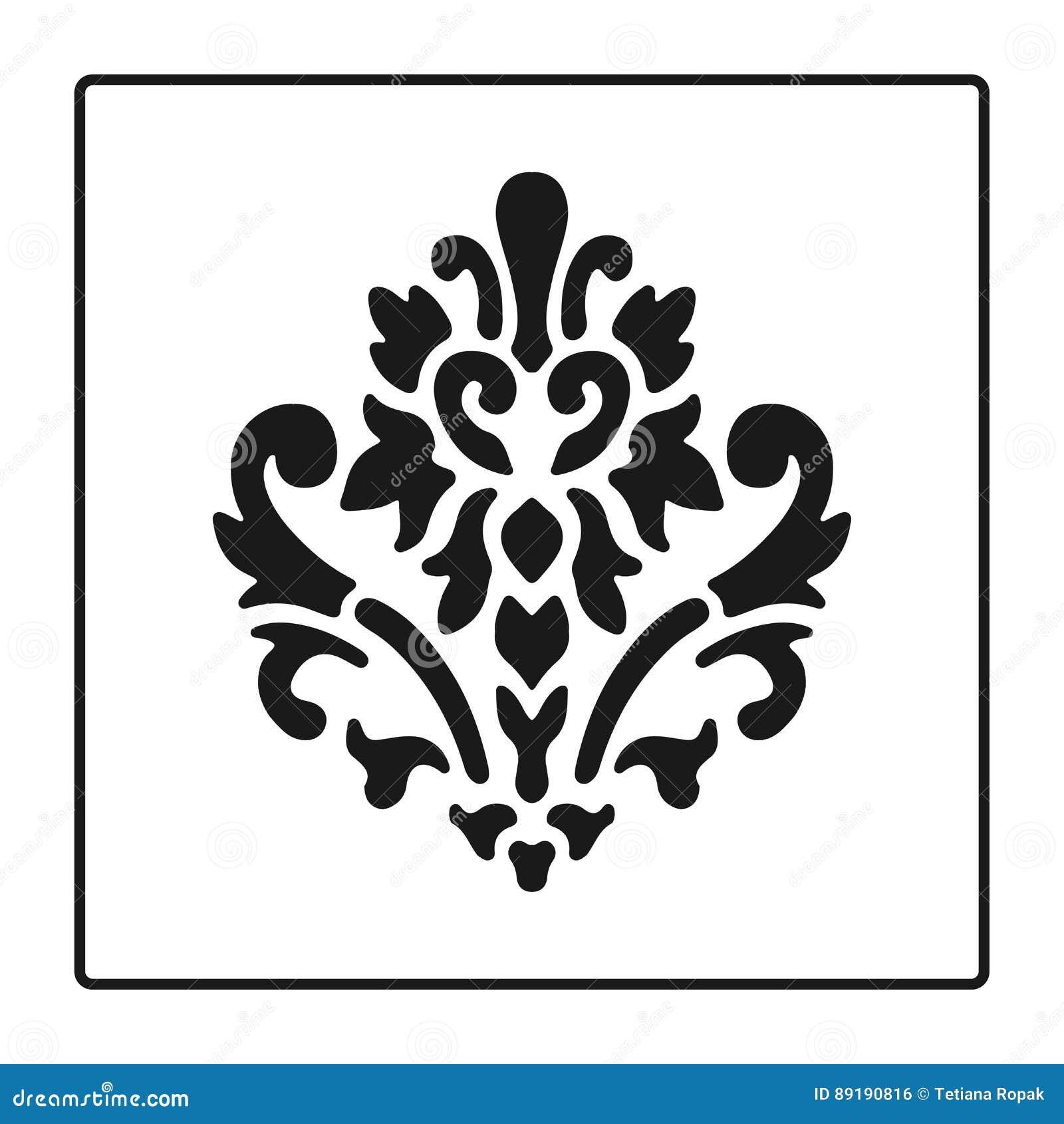 Flower symbol black silhouettes heraldic symbol baroque style flower symbol black silhouettes heraldic symbol baroque style vector illustration medieval sign glowing french fleur de lis biocorpaavc Gallery