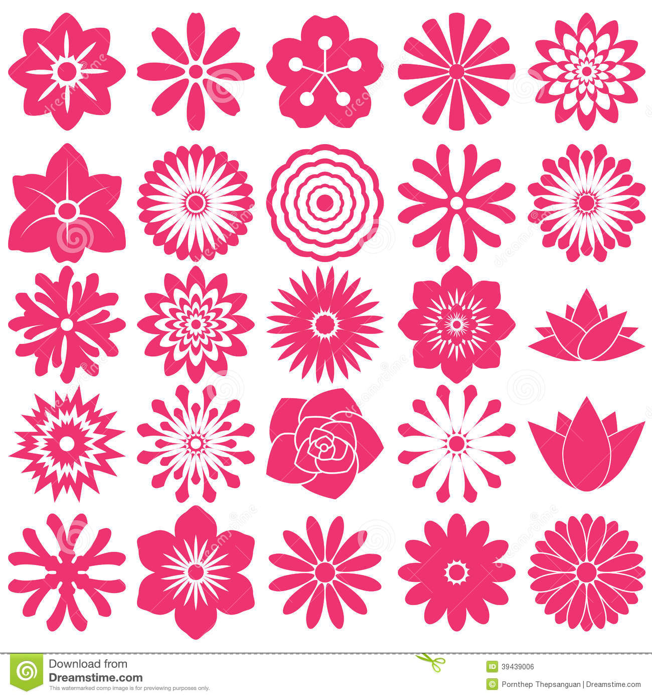 Flower Symbol Icon Stock Vector Image