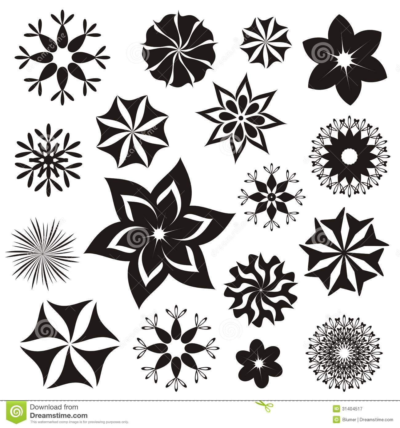 Flower Symbols Royalty Free Stock graphy Image