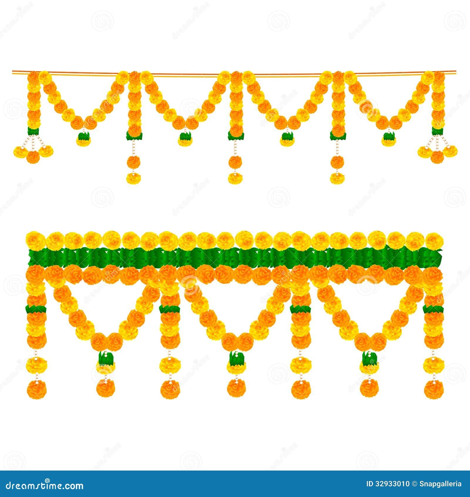 Flower Toran For Decoration Stock Vector Image 32933010
