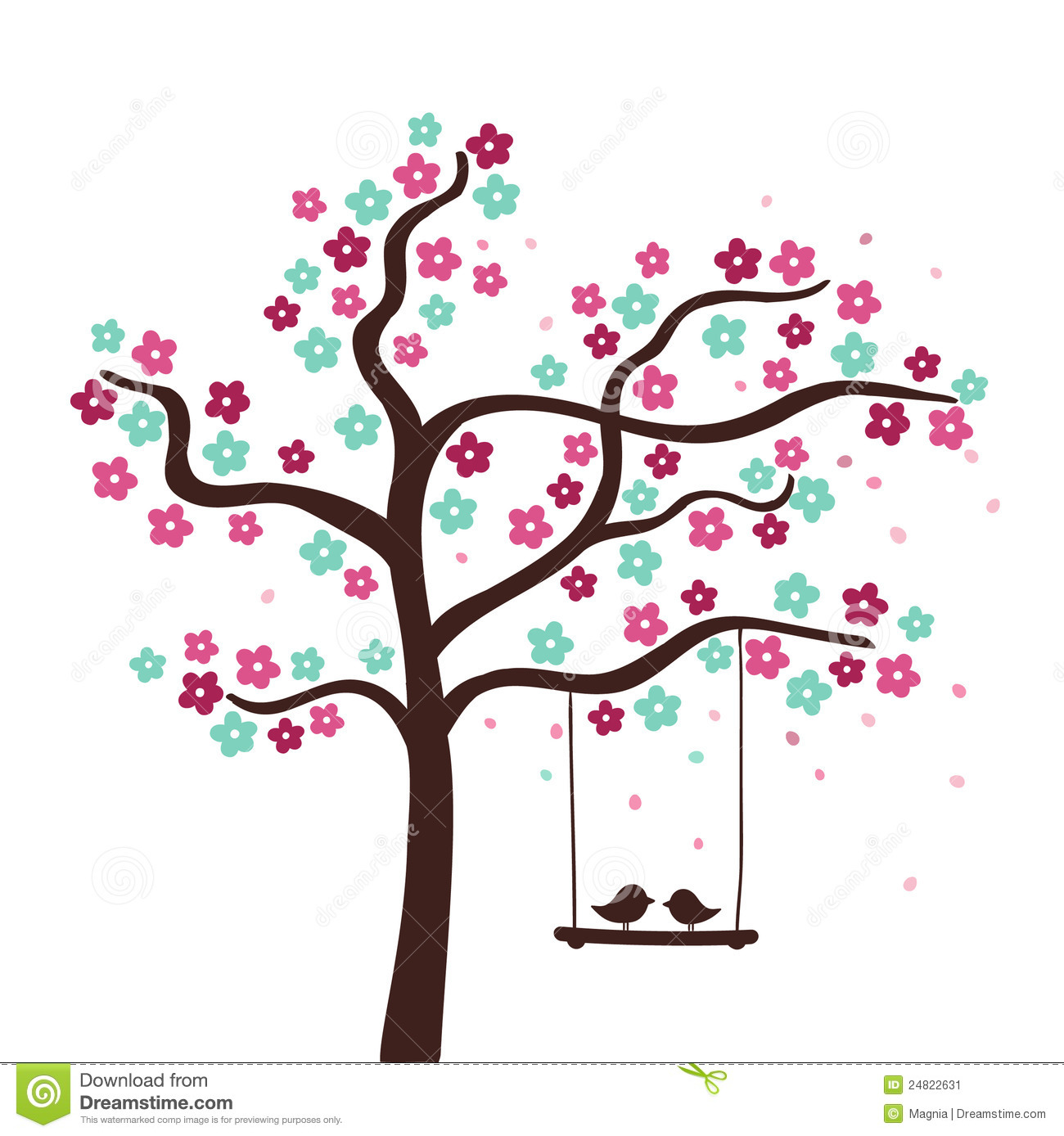 clipart trees and flowers - photo #47