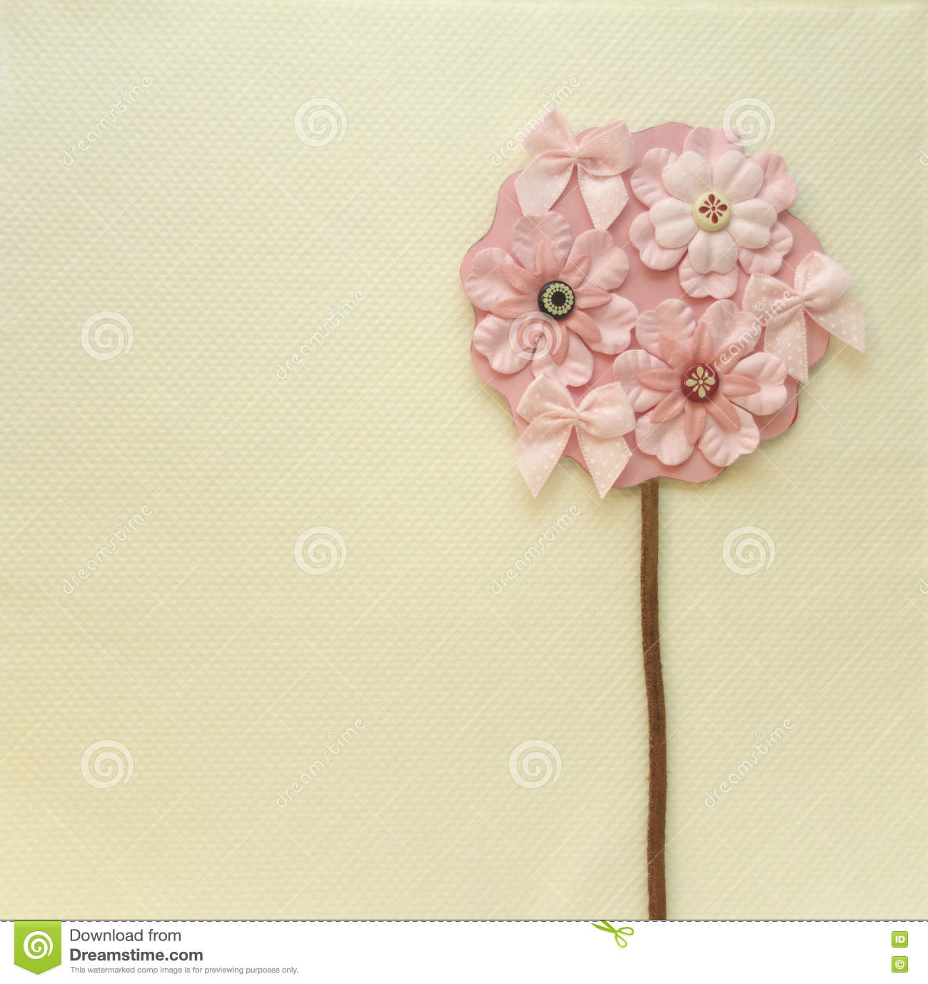 Book Cover Design Flower : Flower tree thank you card stock illustration image