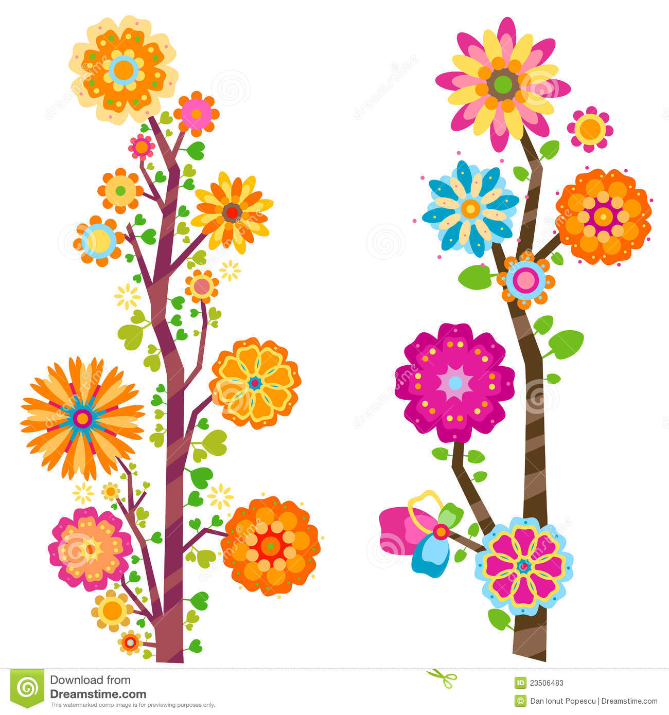 clipart trees and flowers - photo #16