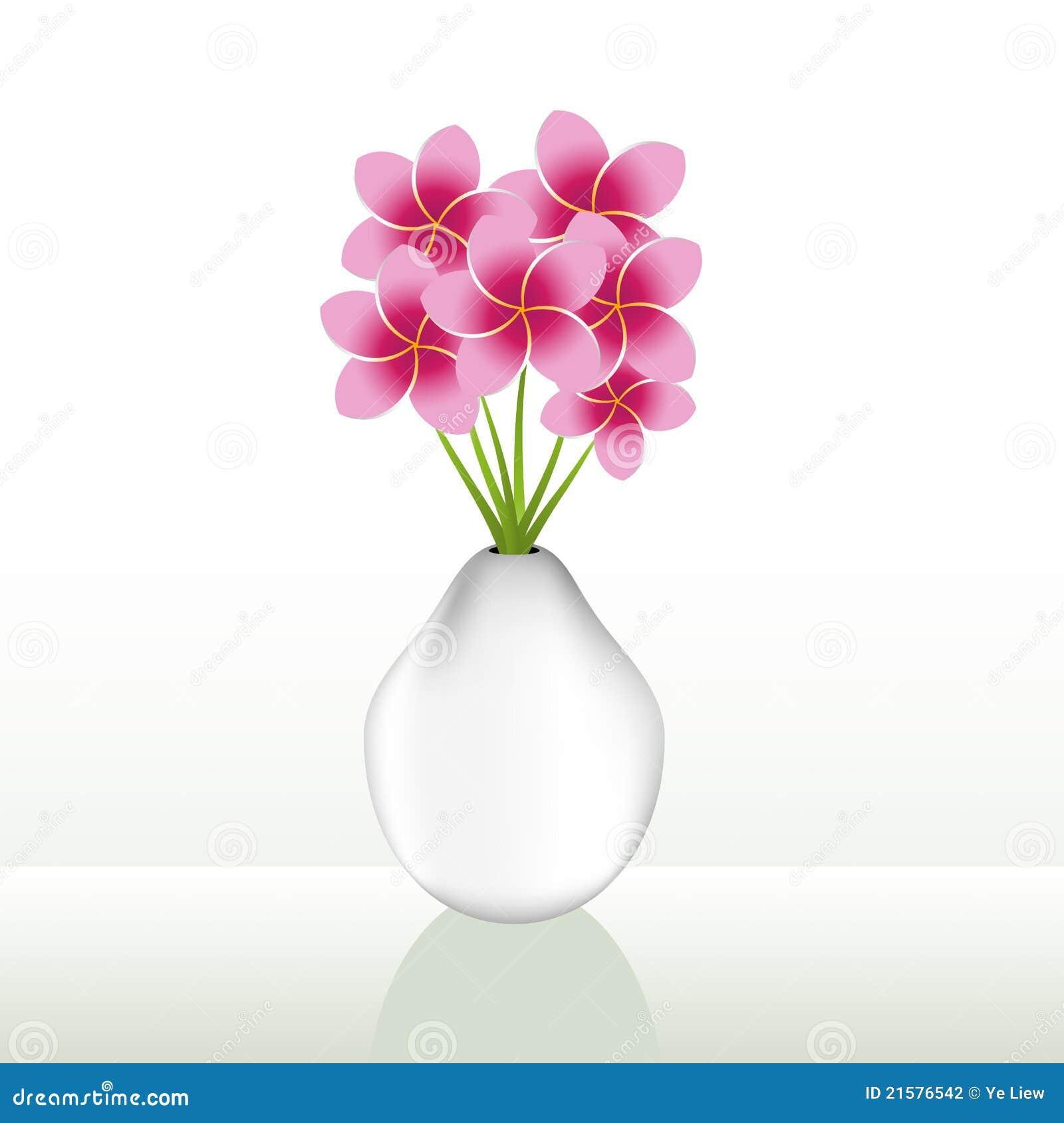 Flower vase stock vector illustration of pink blossom 21576542 flower vase reviewsmspy