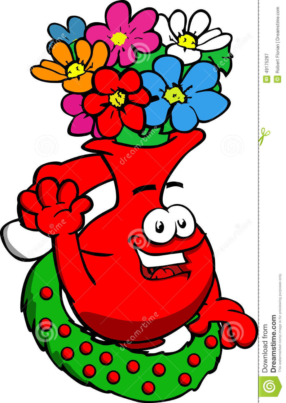 Flower vase with christmas wreath and santa hat