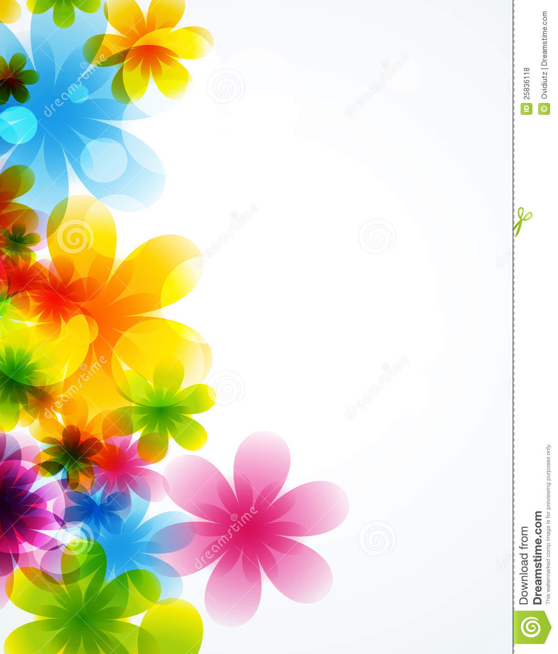 Royalty Free Stock Photos: Flower Vector Background