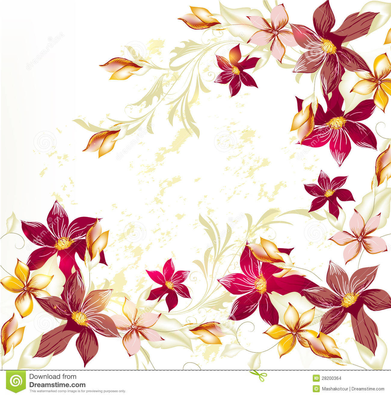 Flower Vector Background In Pastel Vintage Style Stock Vector ...