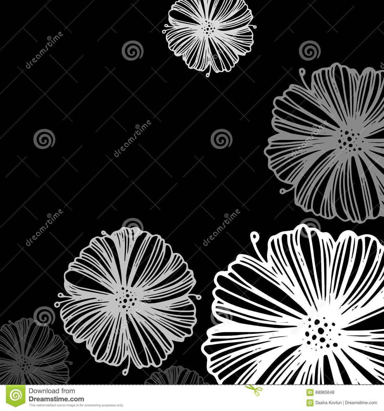 Abstract Spring Floral Decorative Background Vector