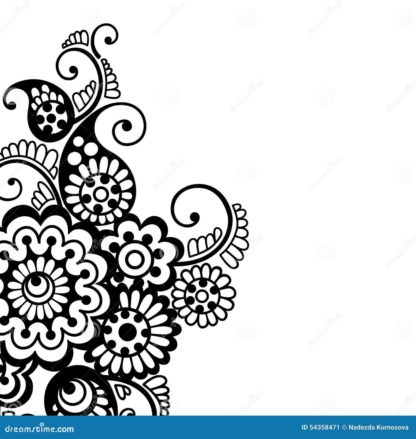 Flower Vector Ornament Background Stock Vector