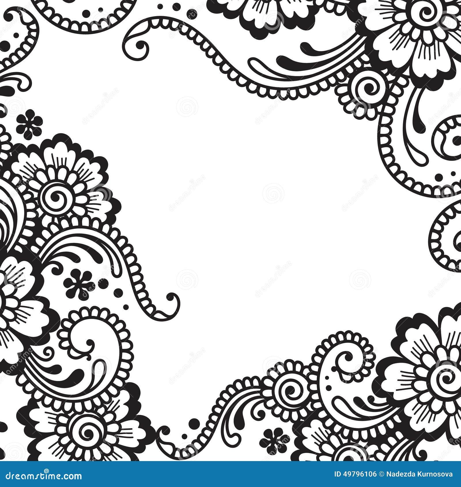Flower Vector Ornament Corner Stock Vector Image 49796106