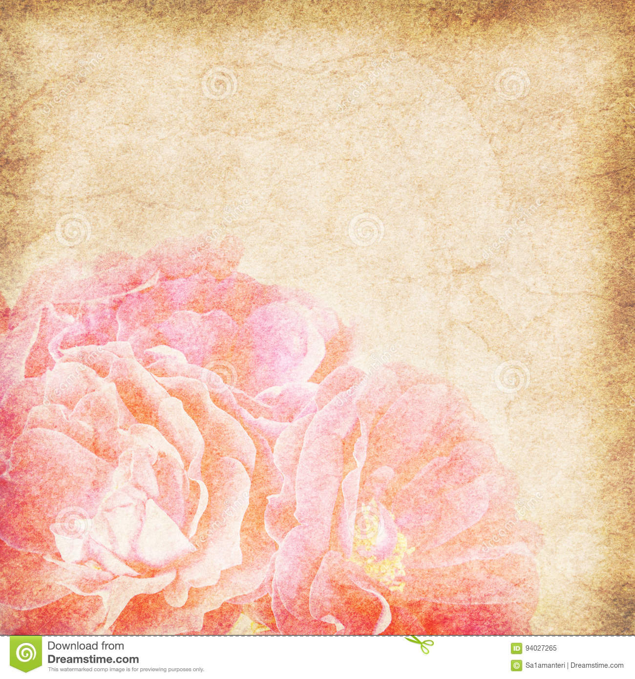 Flower Vintage Paper Background