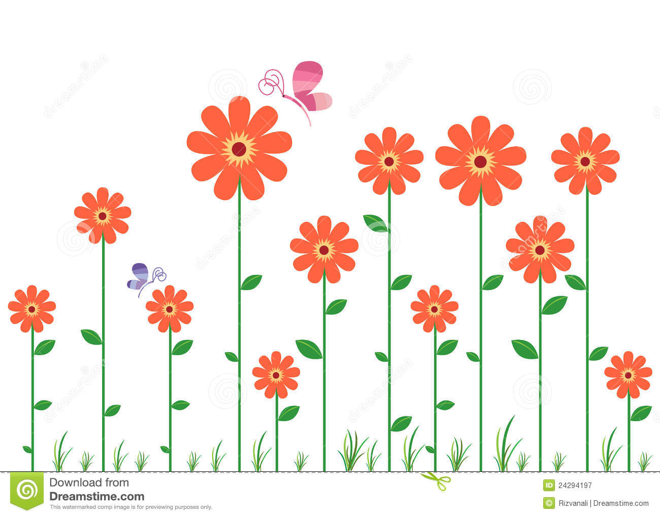 Flower Wall Decal Royalty Free Stock Photography - Image: 24294197 Flower Vine Clipart