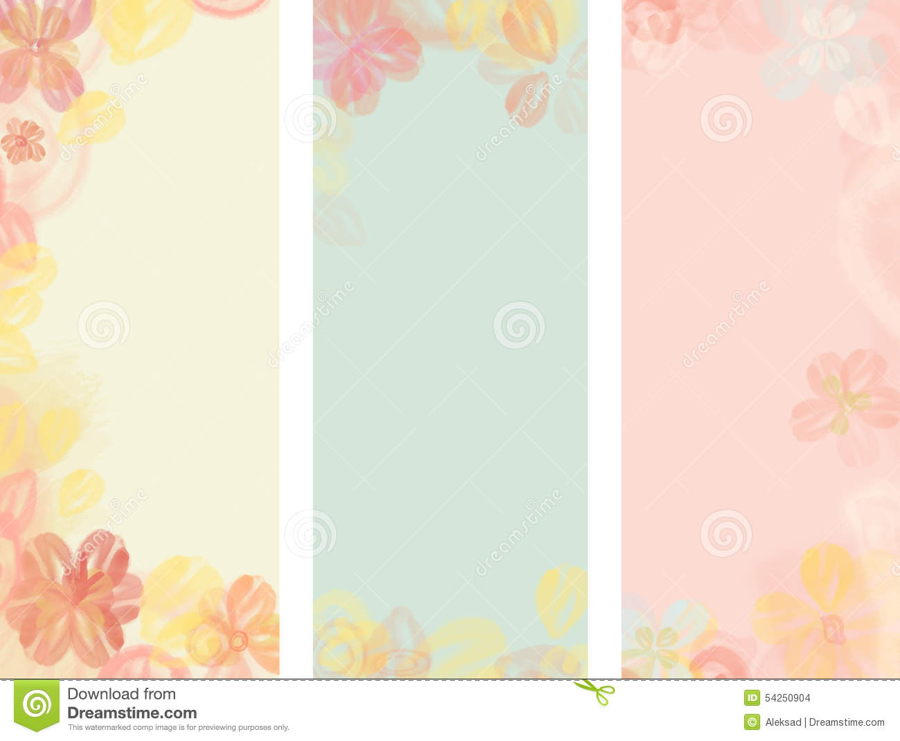 flower watercolor background stock illustration