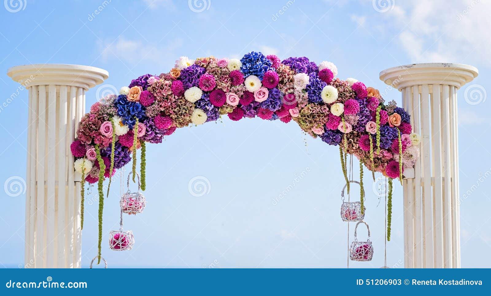 Flower Wedding Arch Stock Photo Image 51206903