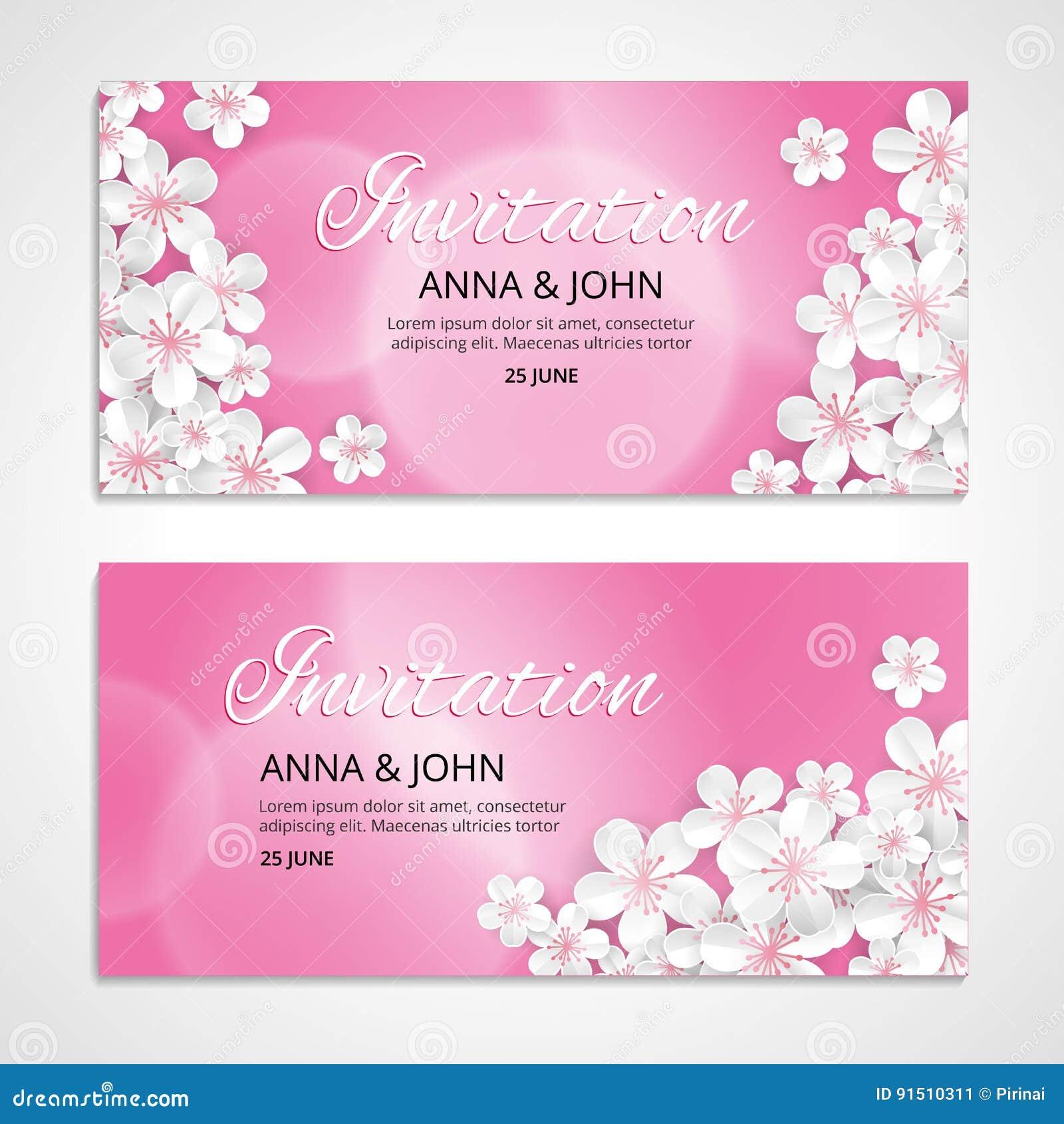 Flower Wedding Invitation Stock Vector Illustration Of Invitation