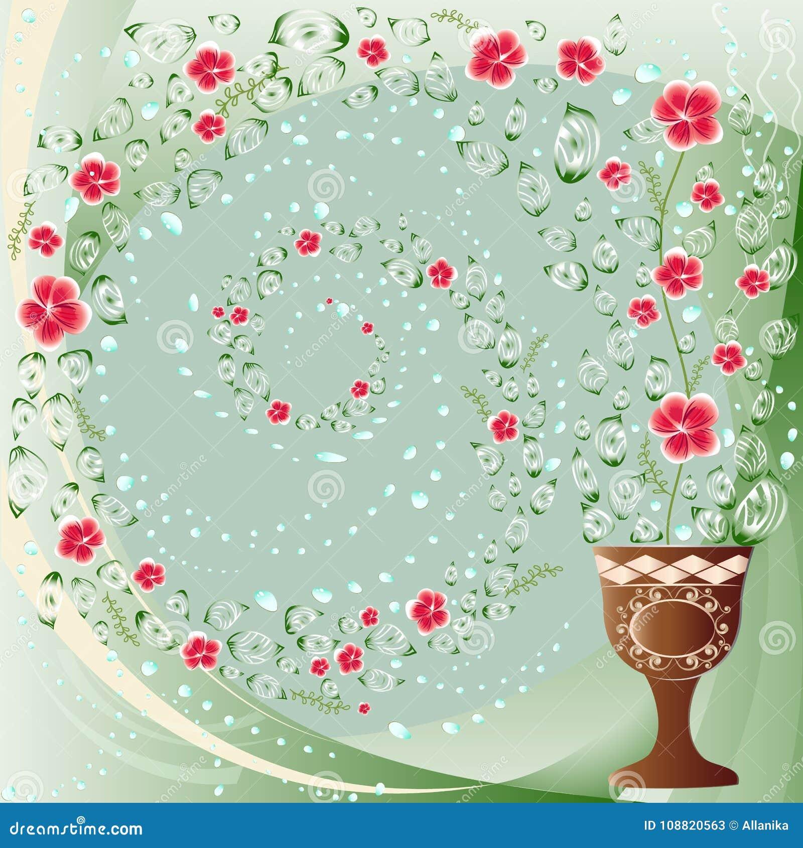 Flower whirlpool background