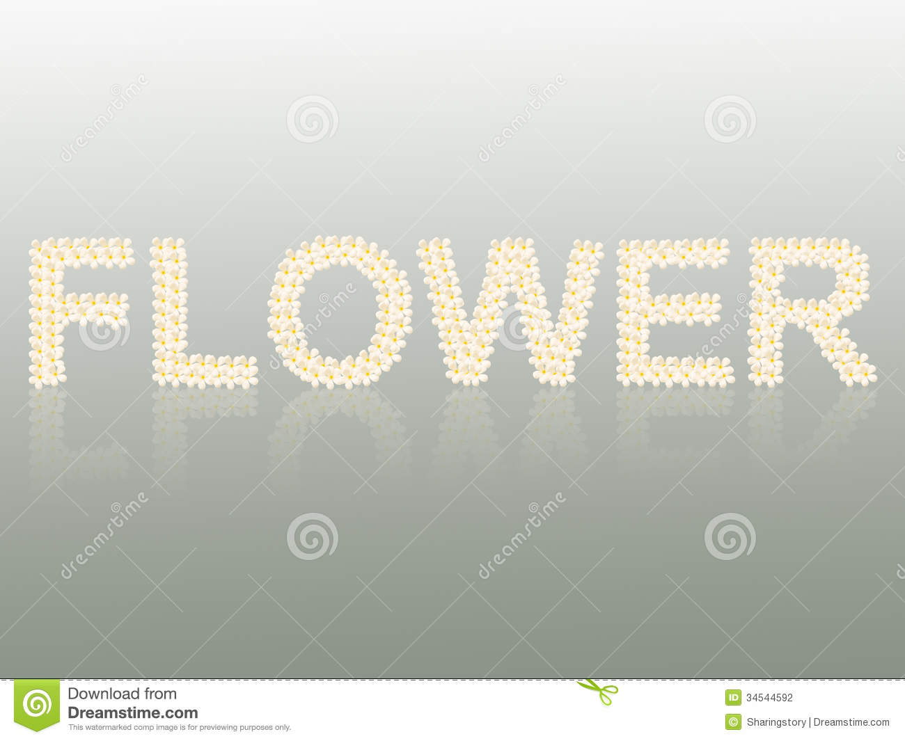flower word created from flower stock photography