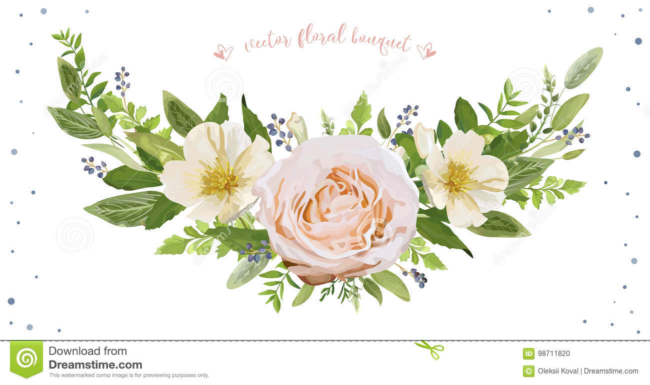 Flower Wreath Bouquet Vector Design Object Element Peach Pink