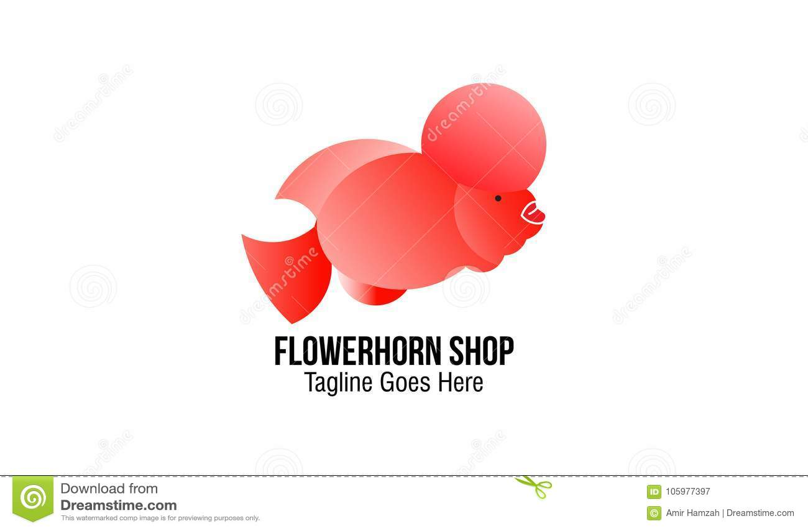 Flowerhorn Shop stock vector  Illustration of dolphin - 105977397