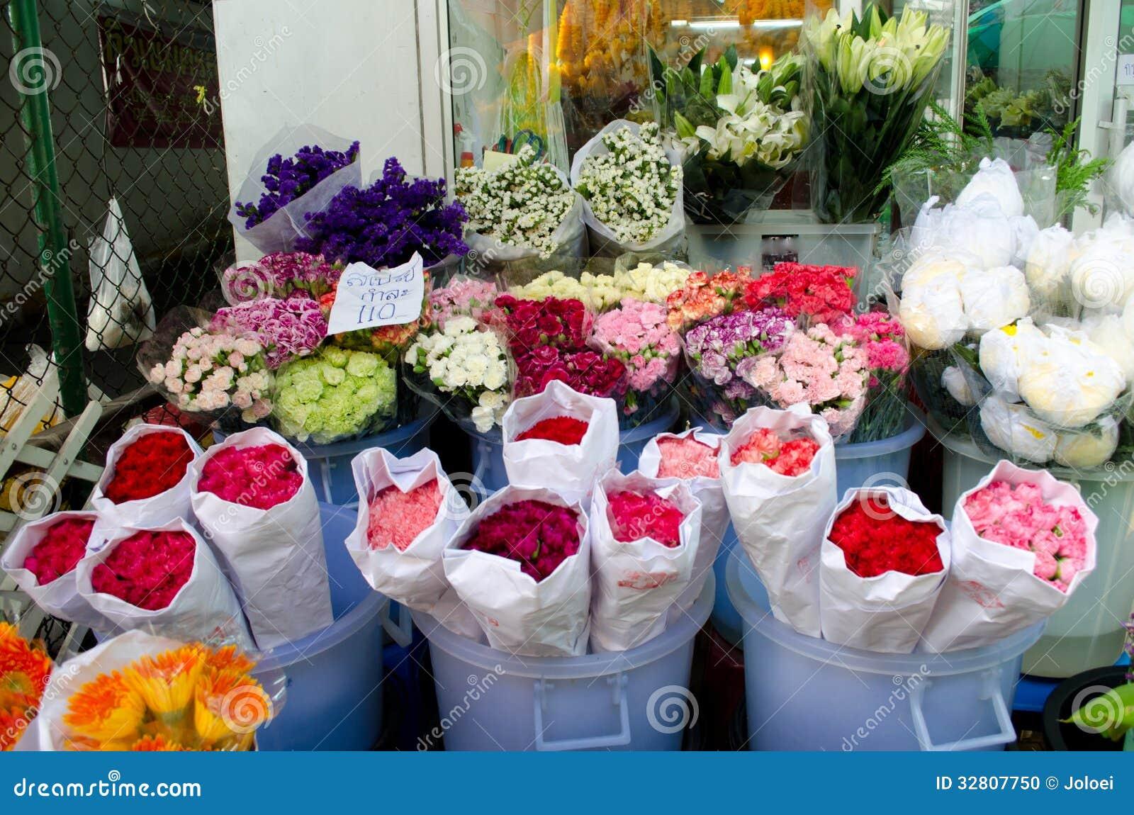 Flowermarket in Bangkok ,Thailand