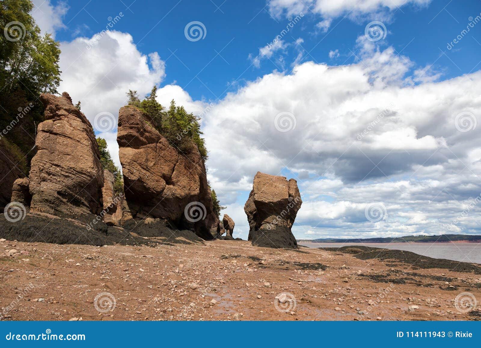 Flowerpot βράχοι Hopewell, Νιού Μπρούνγουικ