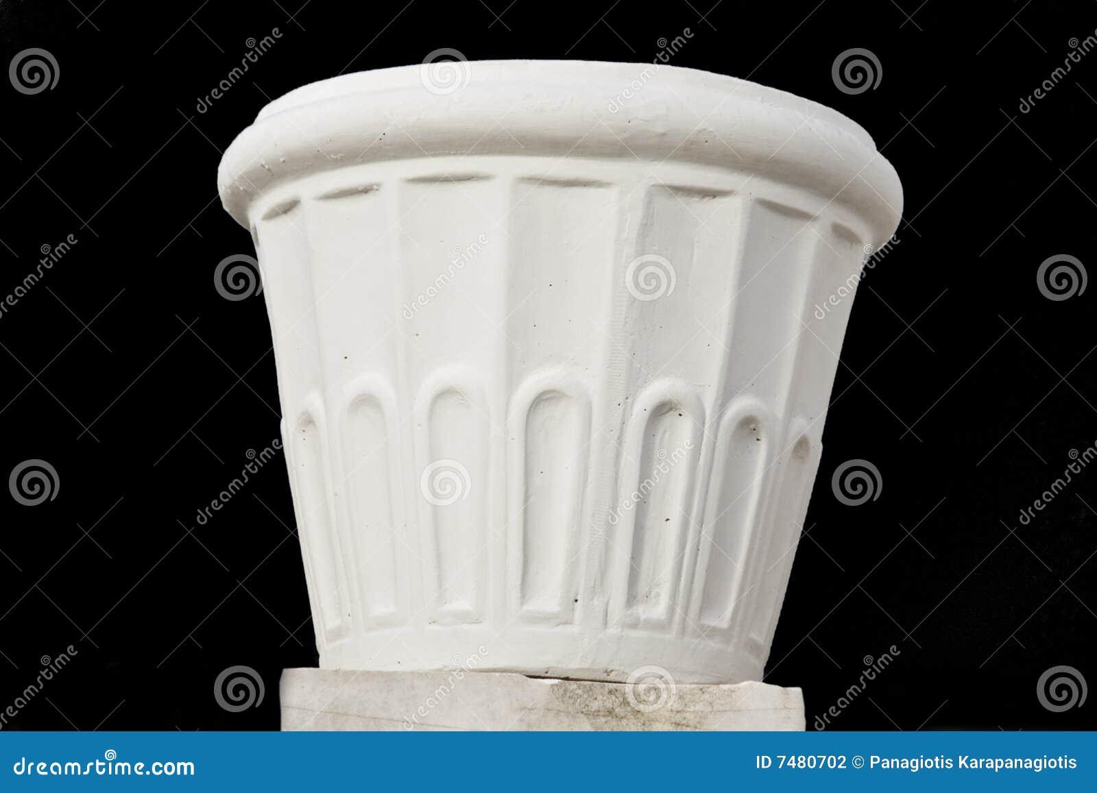 Flowerpot gebildet durch Marmor