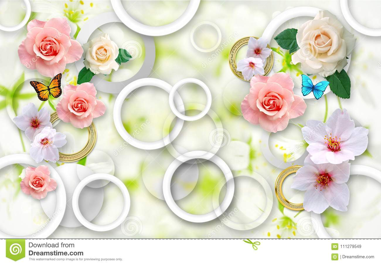 flowers abstract background d wallpapers walls flowers abstract background d wallpapers walls d render 111279549