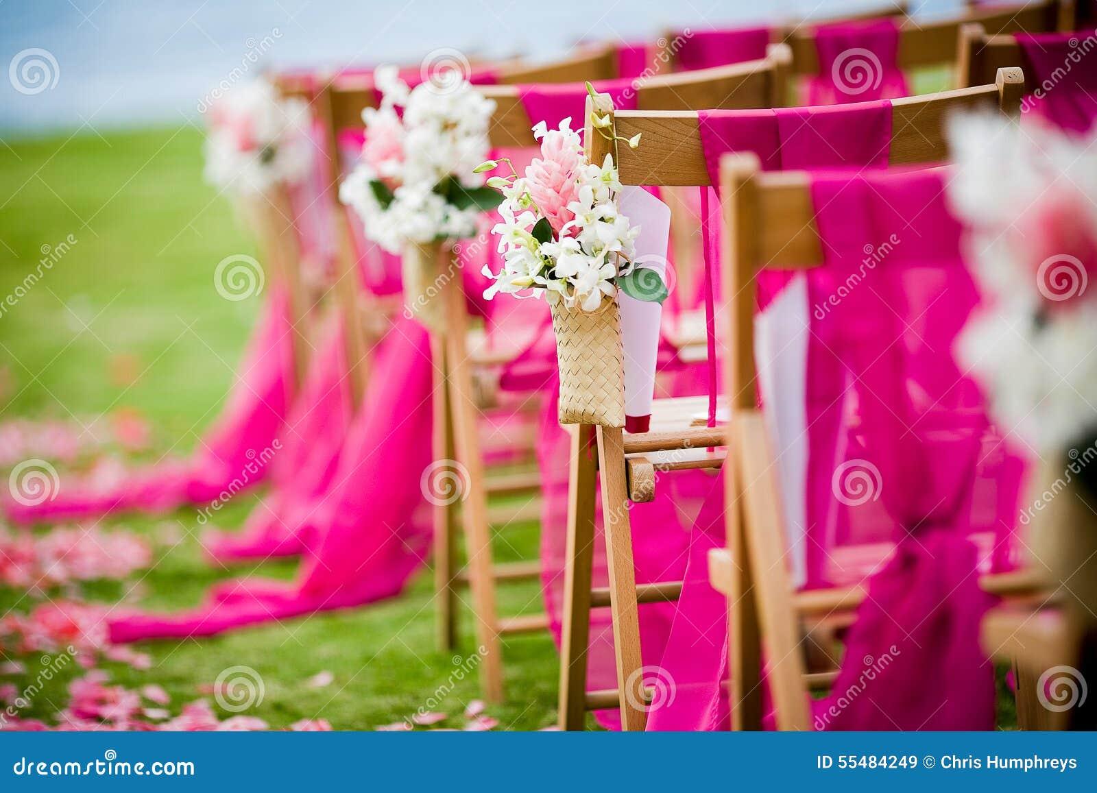 Outdoor Wedding Scene stock image. Image of marriage - 55484249