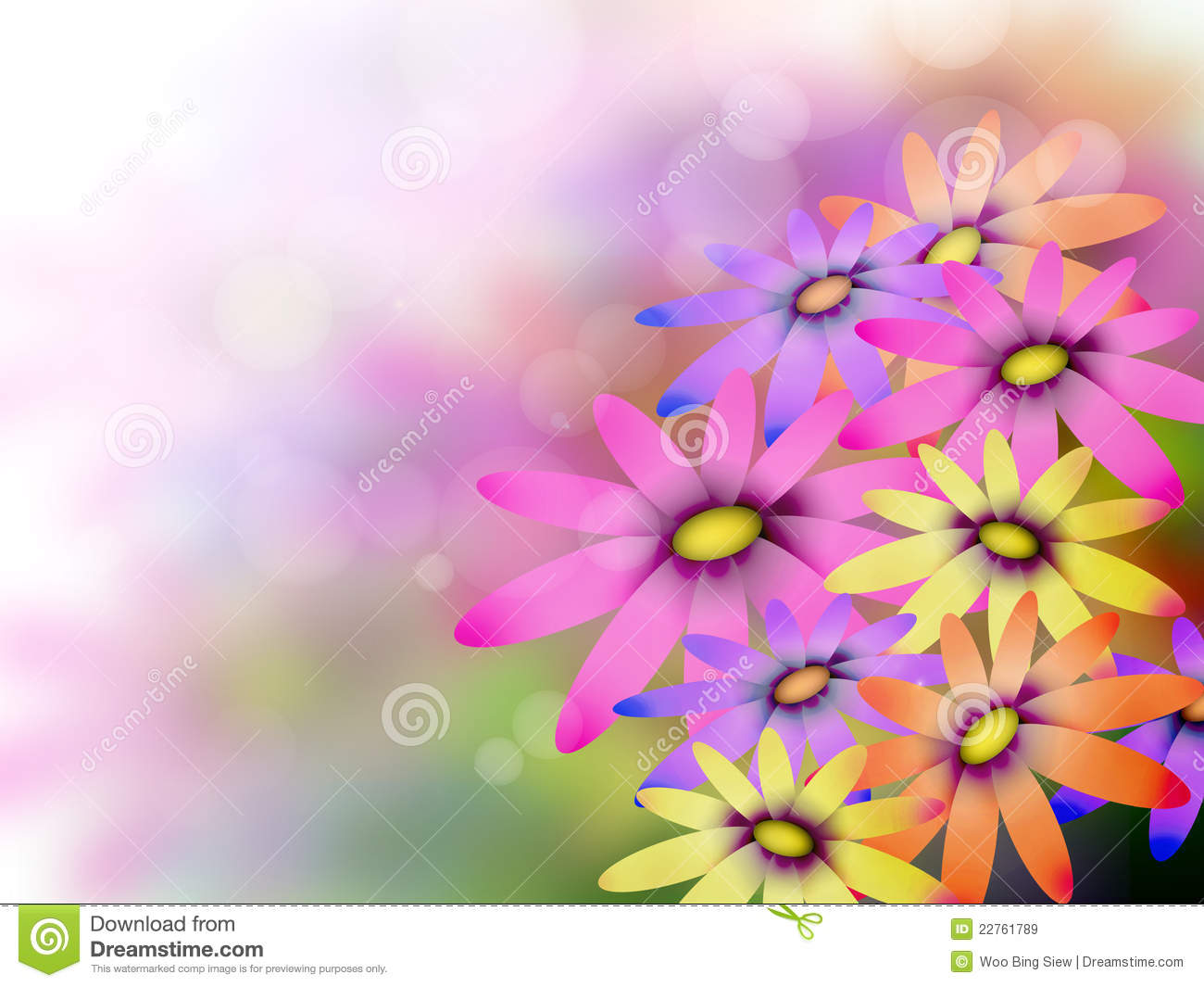 Flowers Background Royalty Free Stock Images - Image: 22761789