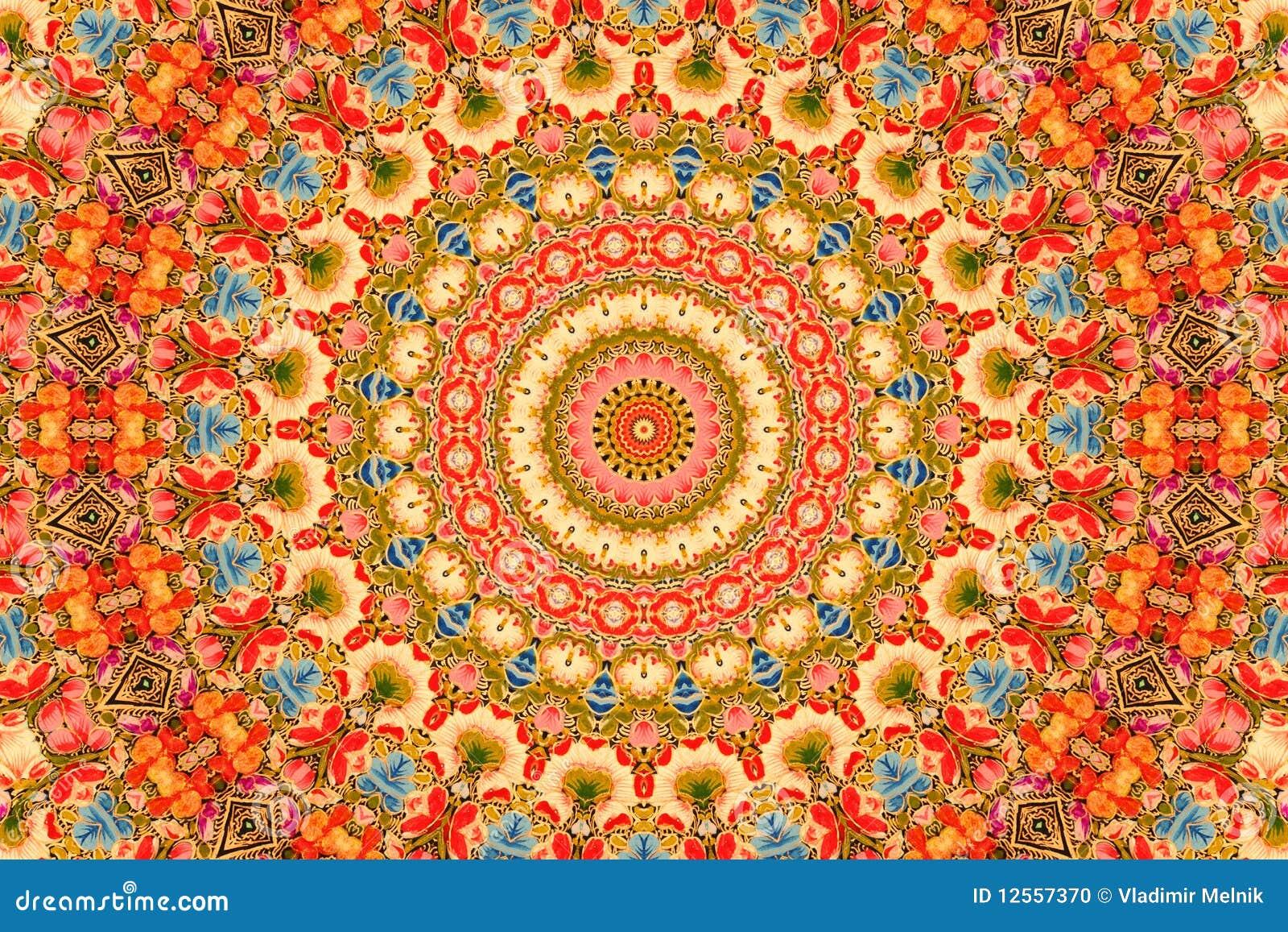 Flowers Background Kashmiri Style Stock Photo Image 12557370