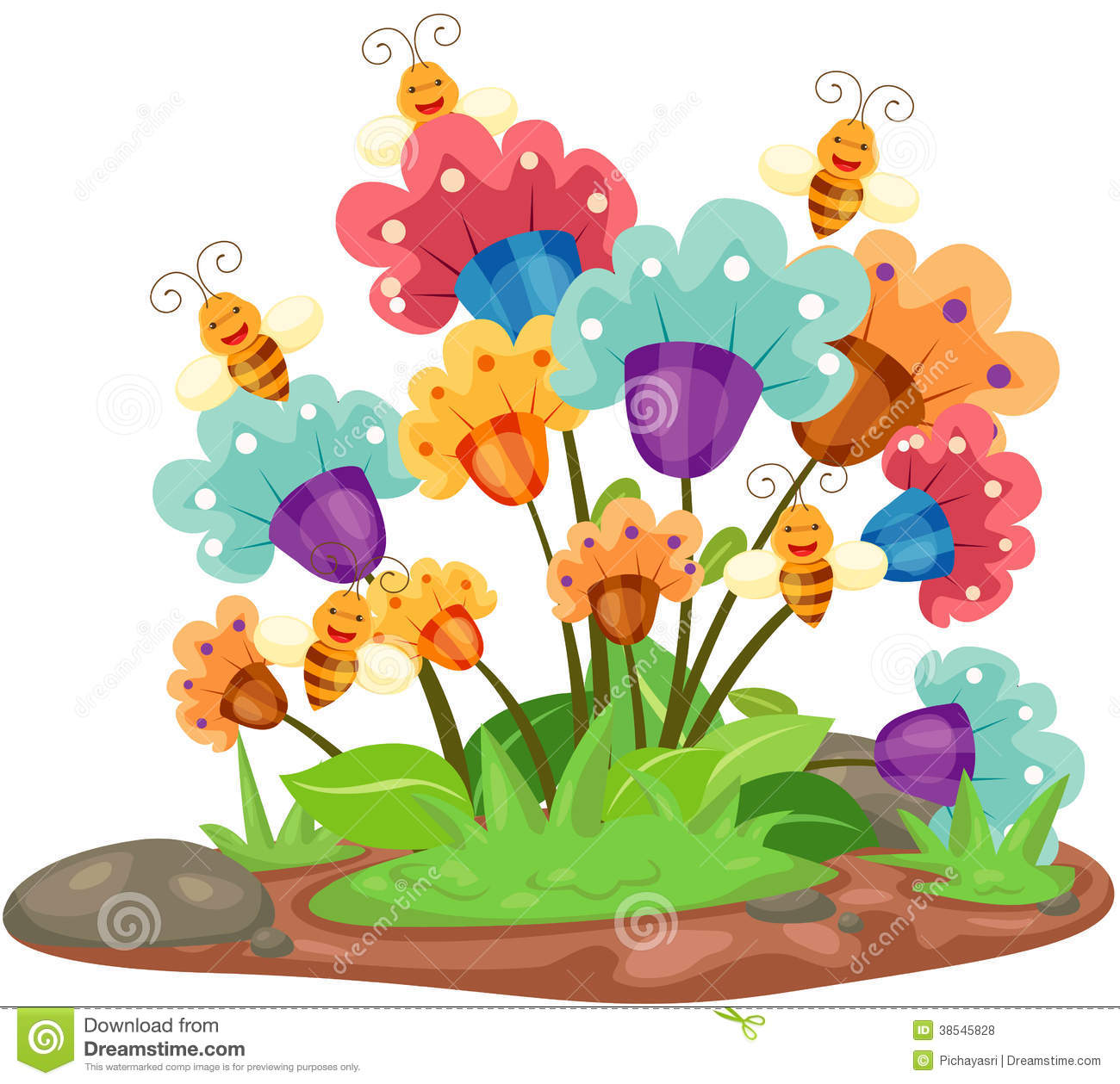 Flowers with bees