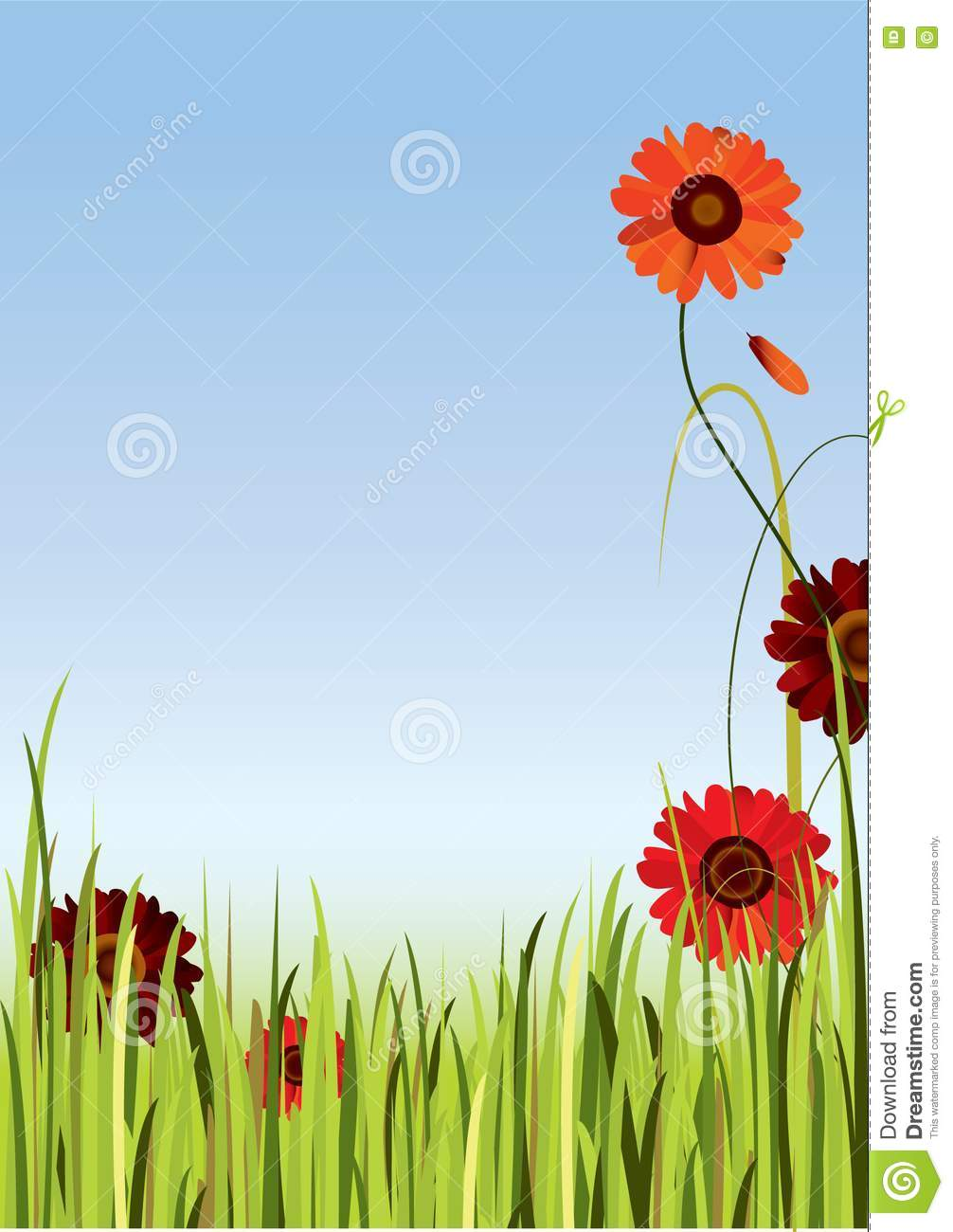 Flowers Border Stock Vector Image Of Petal Meadow