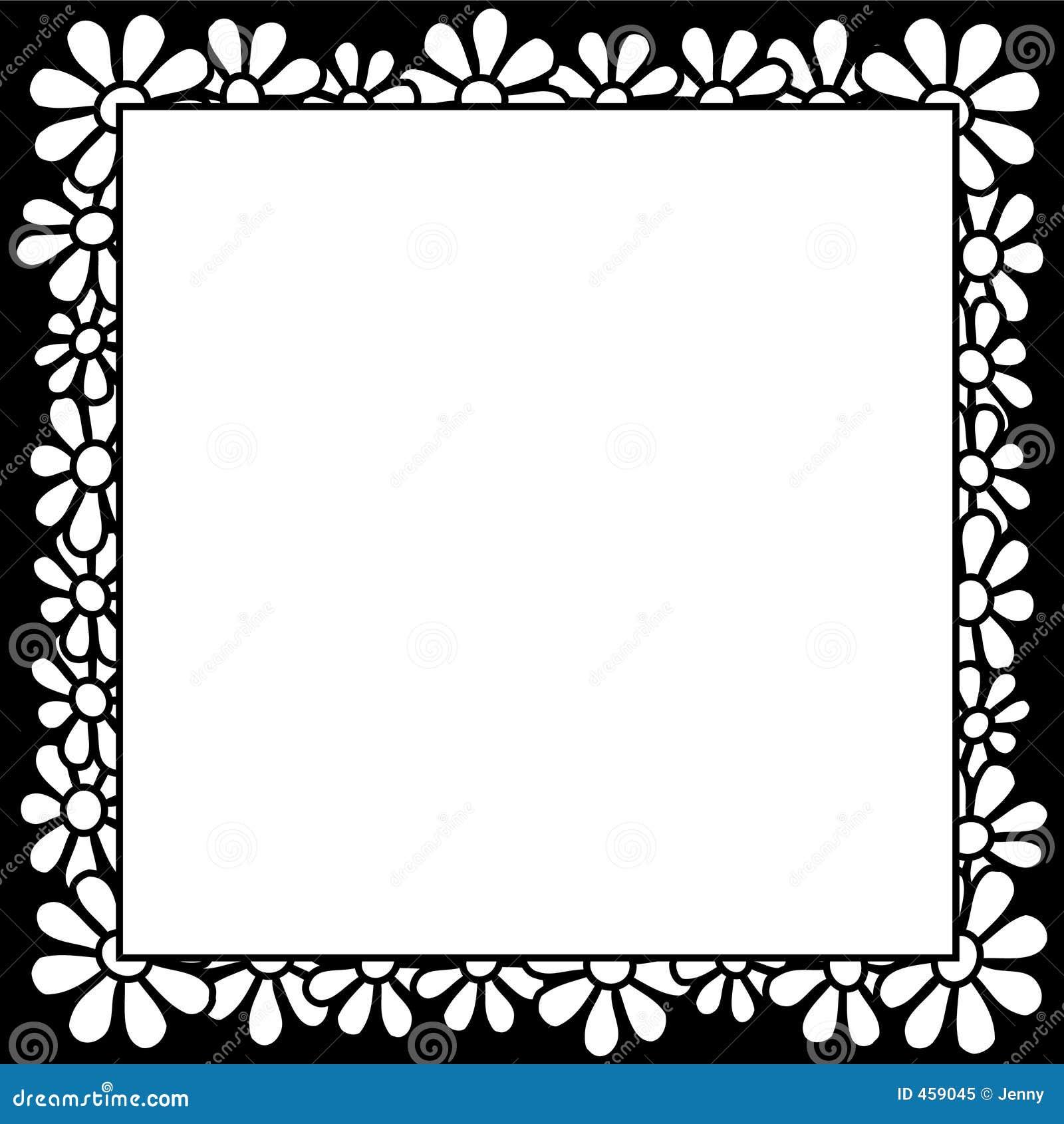 Download Flowers - Border stock vector. Illustration of seventies - 459045