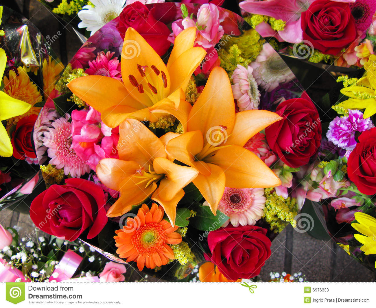 A Bouquet Of Colorful Flowers Stock Photo - Image of bright, natural ...