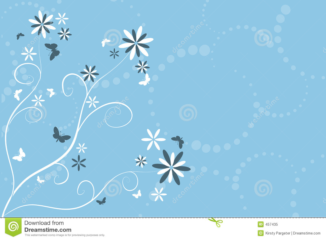 Download Flowers and butterflies stock vector. Illustration of deco - 457435