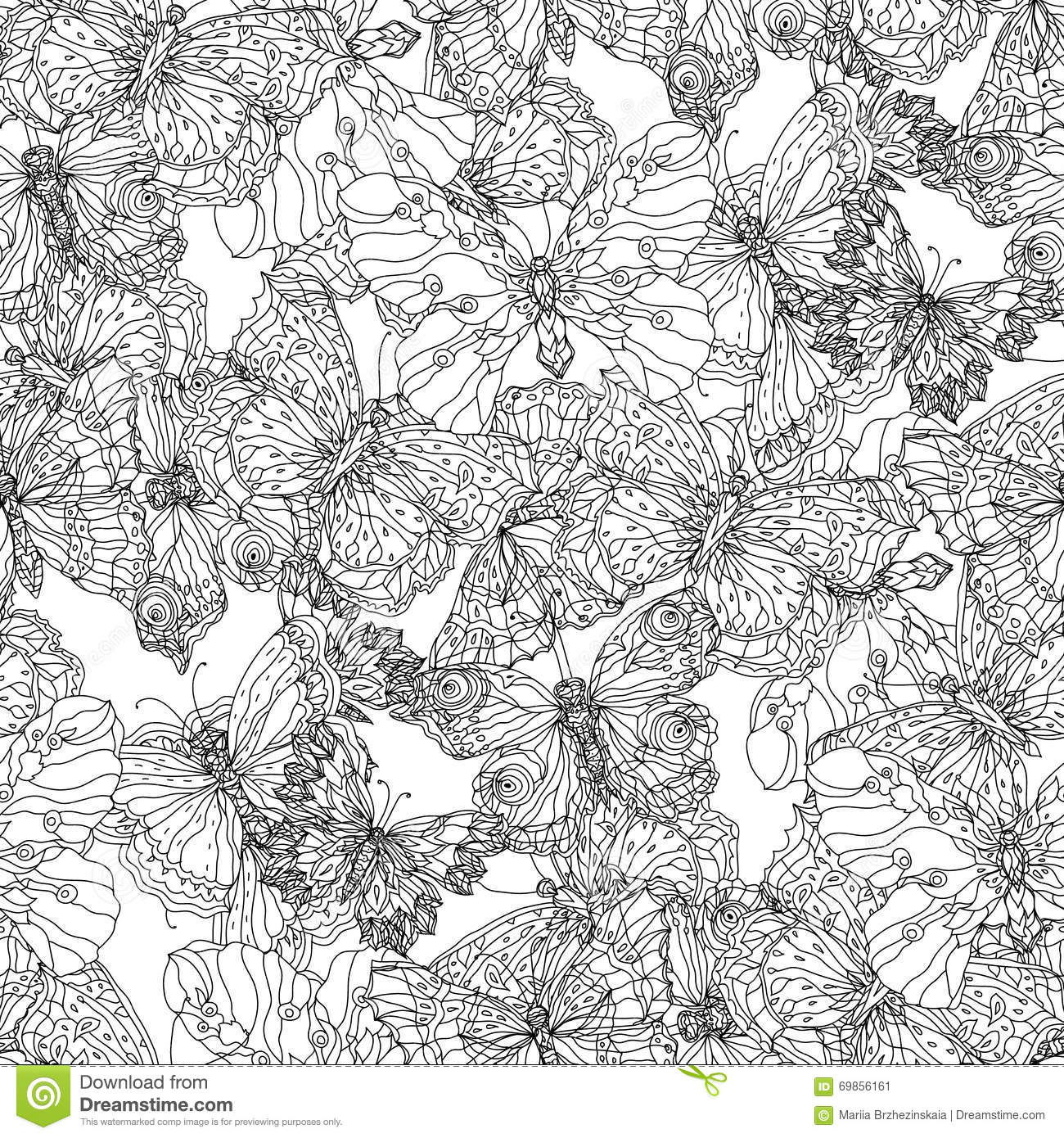Flowers And Butterflies Background Black
