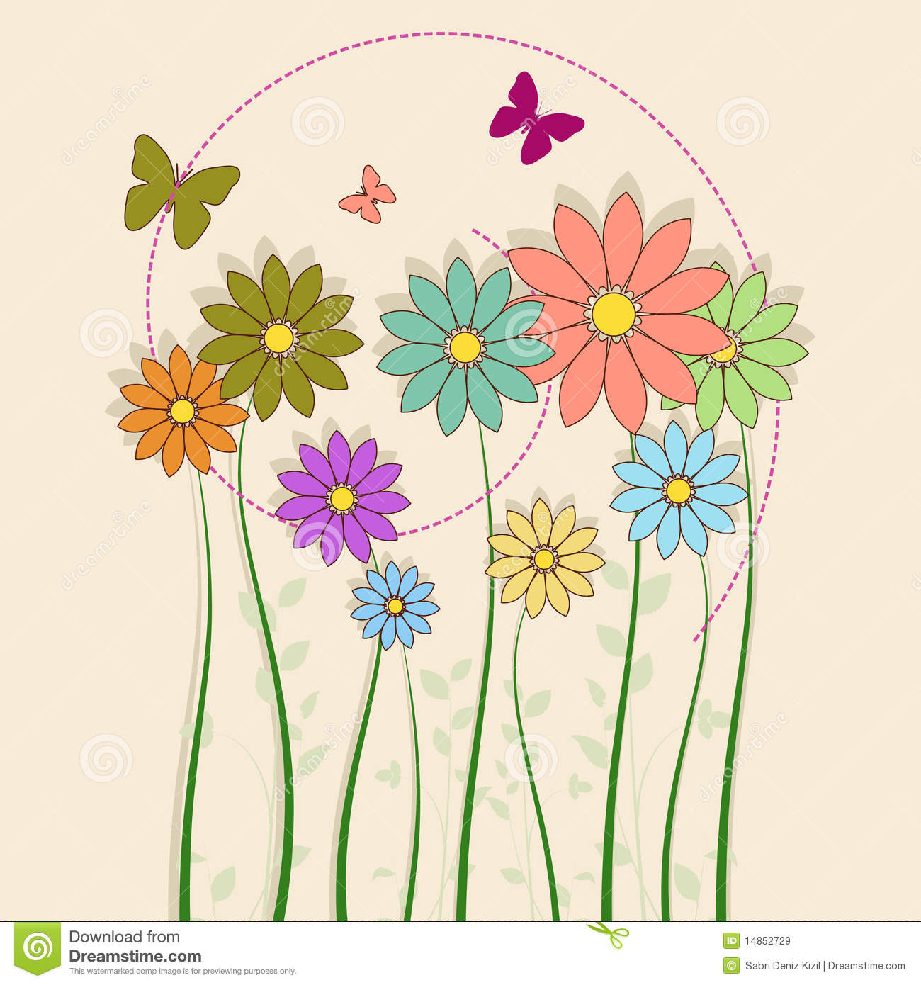 Flowers with butterfly