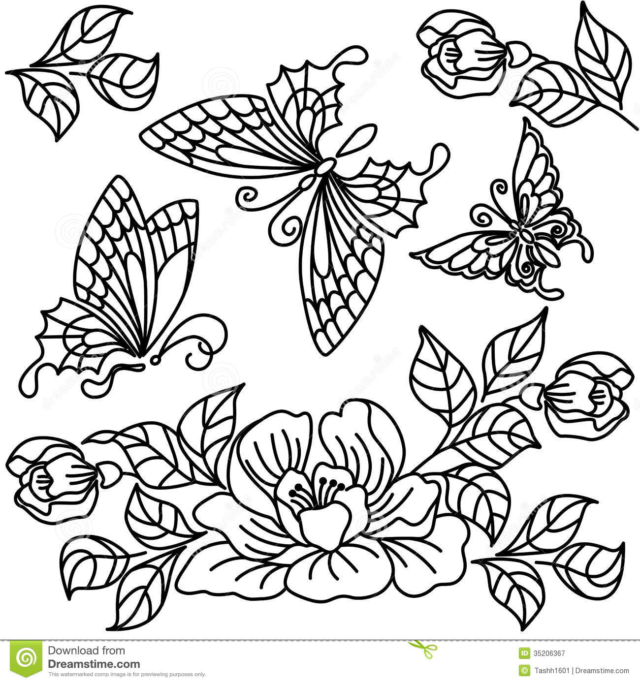 Flowers and butterfly stock illustration illustration of flowers download flowers and butterfly stock illustration illustration of flowers 35206367 mightylinksfo