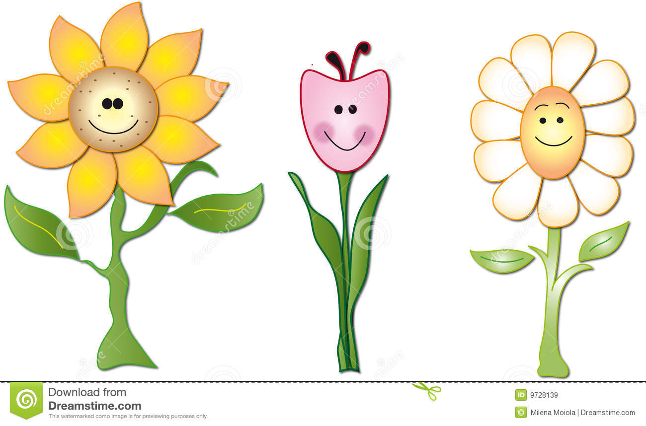 Flowers Cartoon Stock Illustration Image Of Frame