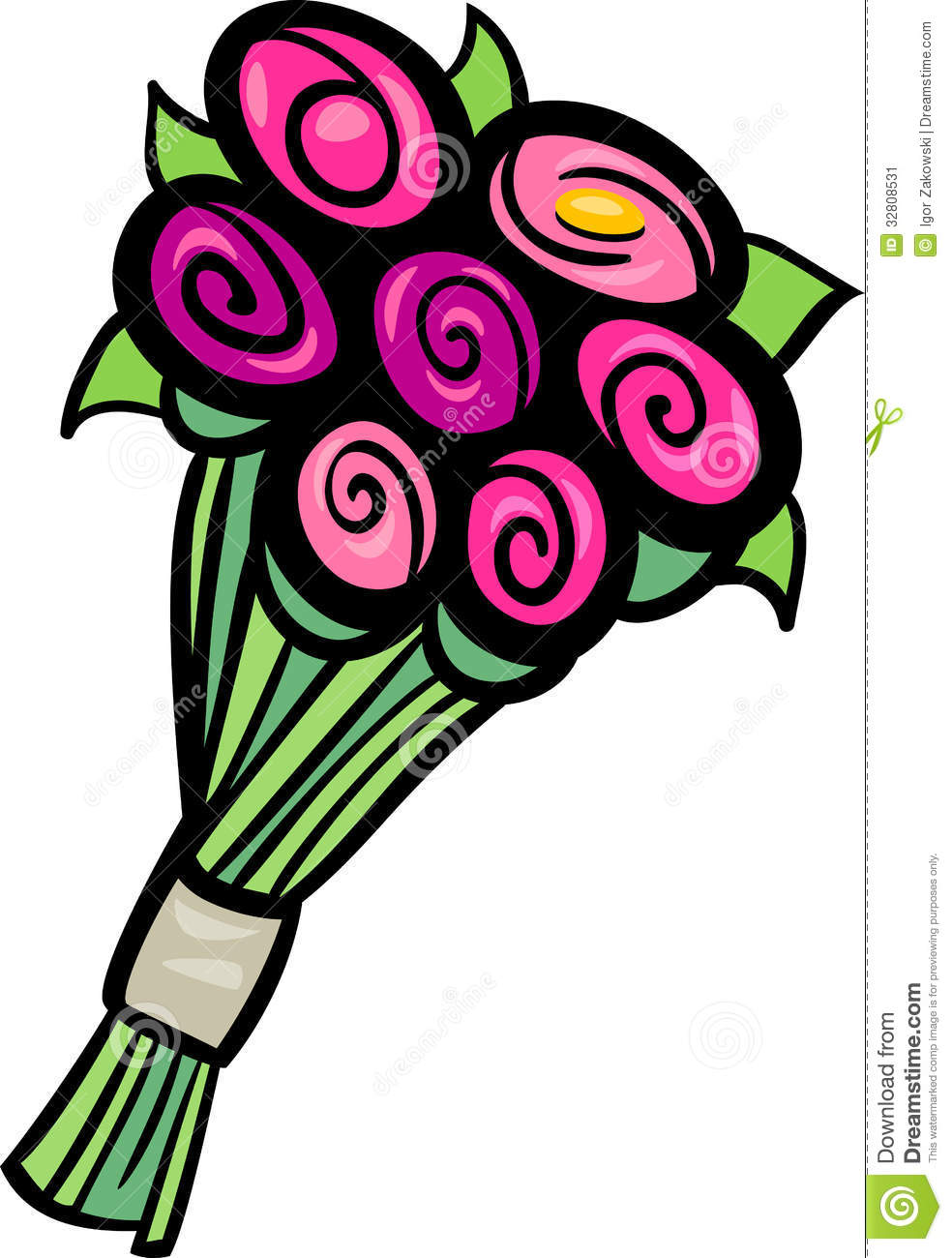 Flowers Clip Art Cartoon Illustration