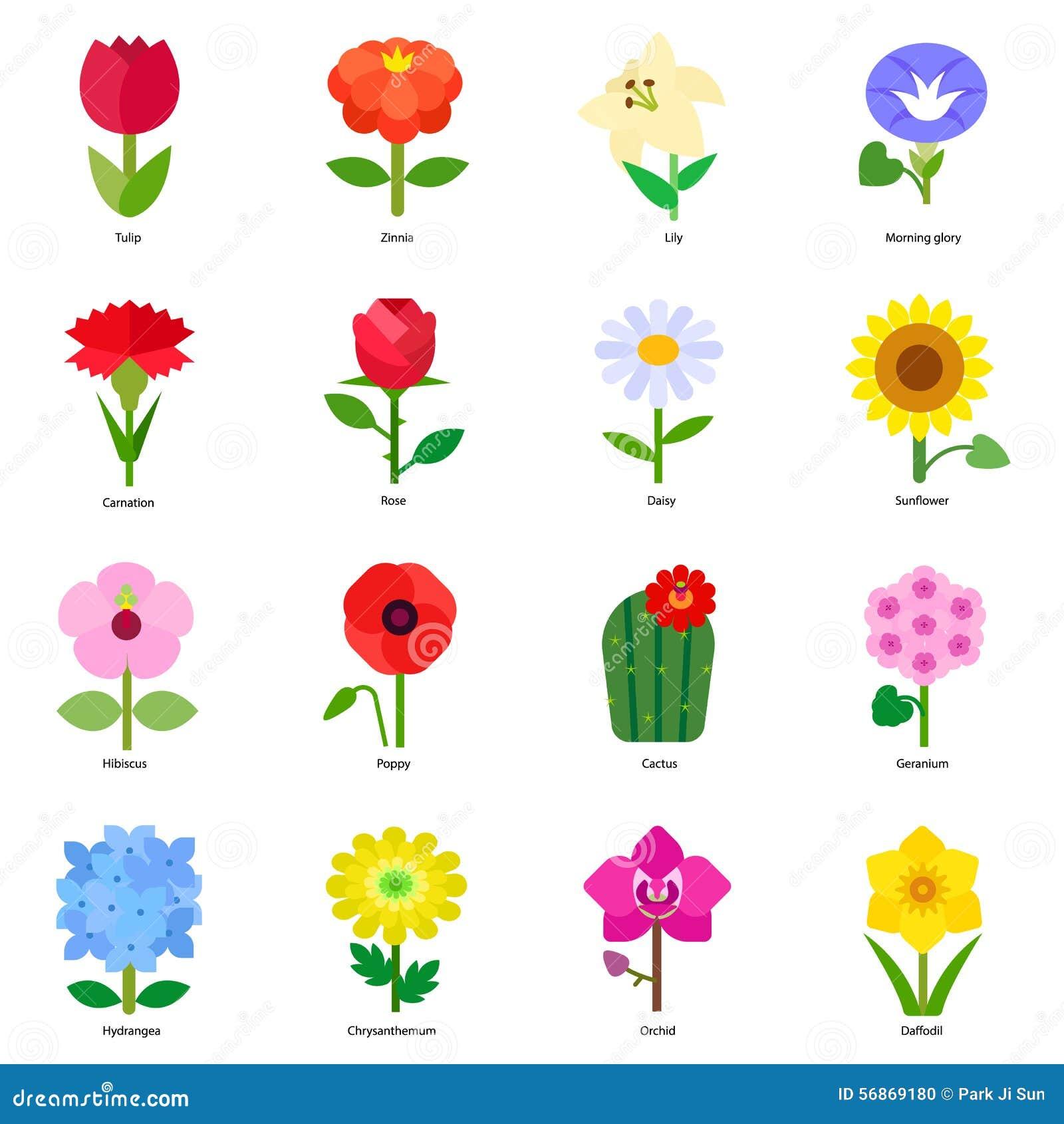 Flowers stock vector. Illustration of icon, tulip ...