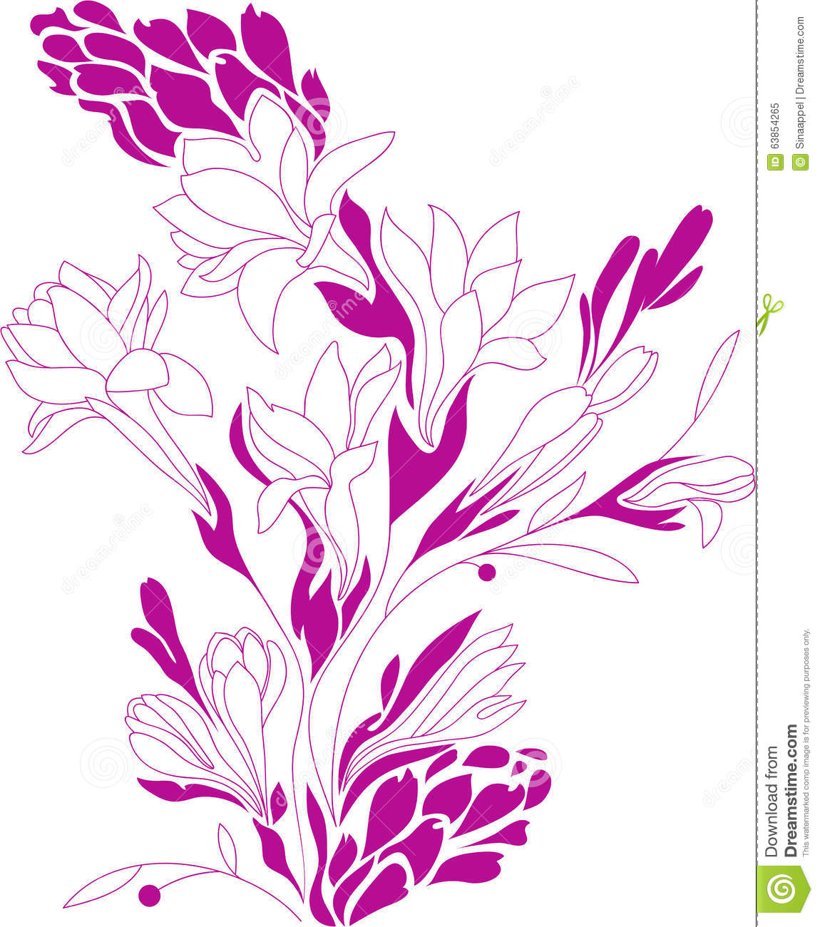 Contour Line Drawing Flowers : Flowers contour drawing stock vector image